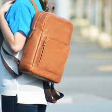 Brooklyn Backpack in Tan on Model