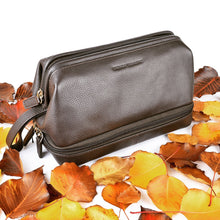 77002 Twin Compartment Brown Washbag Instagram Image