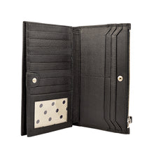 lucy bifold wallet in black second open view