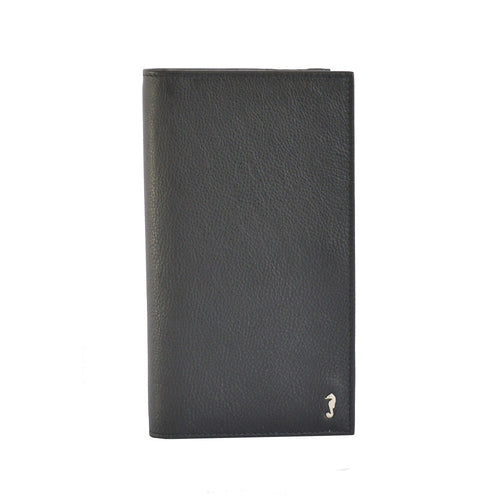 Lucy bifold wallet in black front view