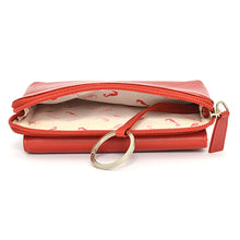 W4202 Tri-Fold Clutch Wallet - Red