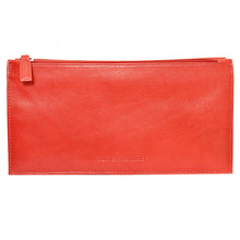 W449 travel wallet in scarlett red rear view