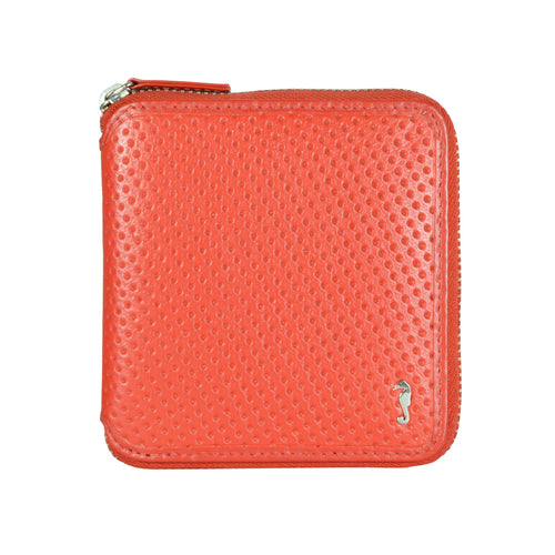 W474 Punched Dot Wallet - Red