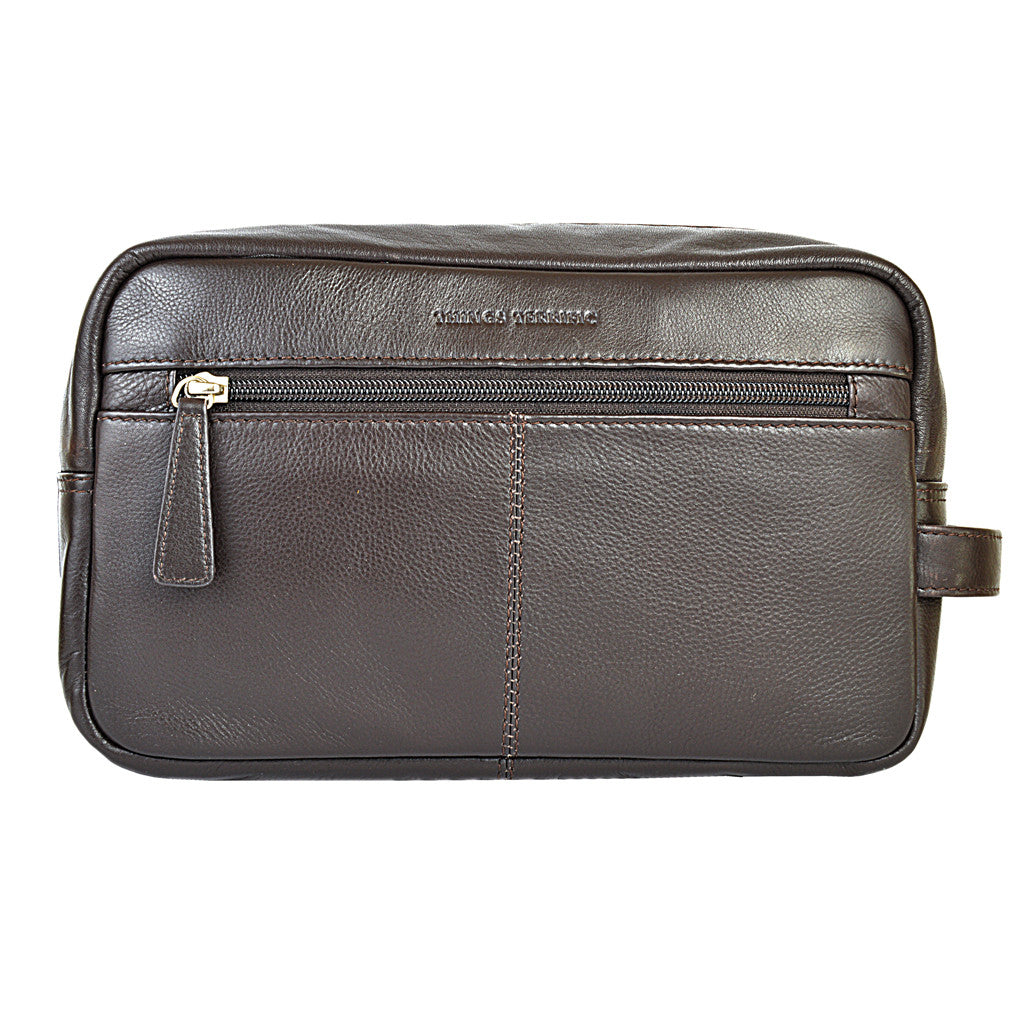 ZAC Wash Bag - Brown