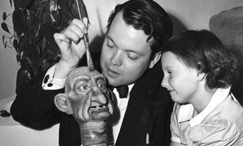 Boscutti - Orson Welles - Writer Producer Director Actor Orson Welles and daughter Christopher Welles