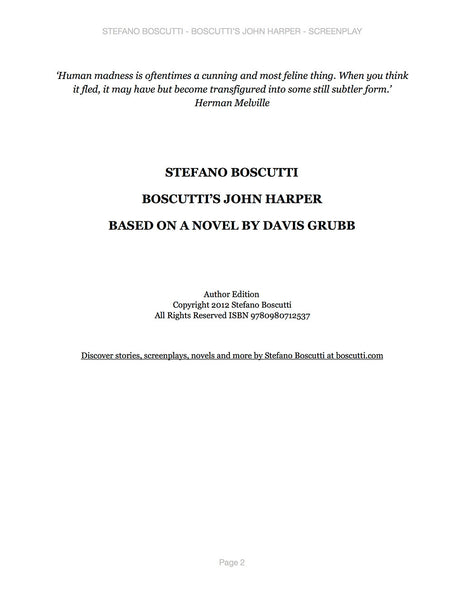 Stefano Boscutti - Boscutti John Harper Screenplay - Sample Page 2