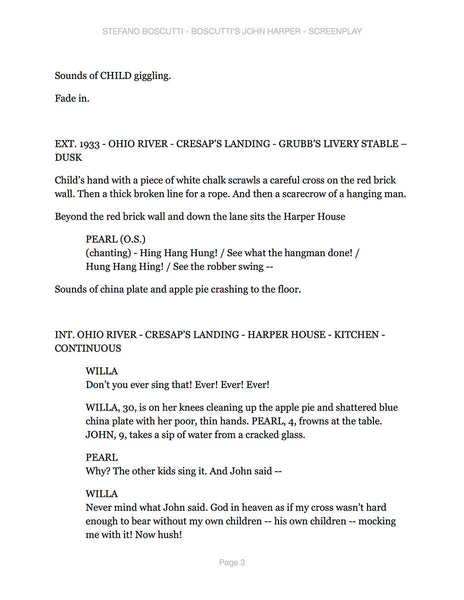 Stefano Boscutti - Boscutti John Harper Screenplay - Sample Page 3