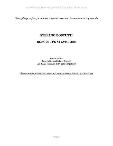 Stefano Boscutti - Boscutti Steve Jobs Screenplay - Sample Page 2
