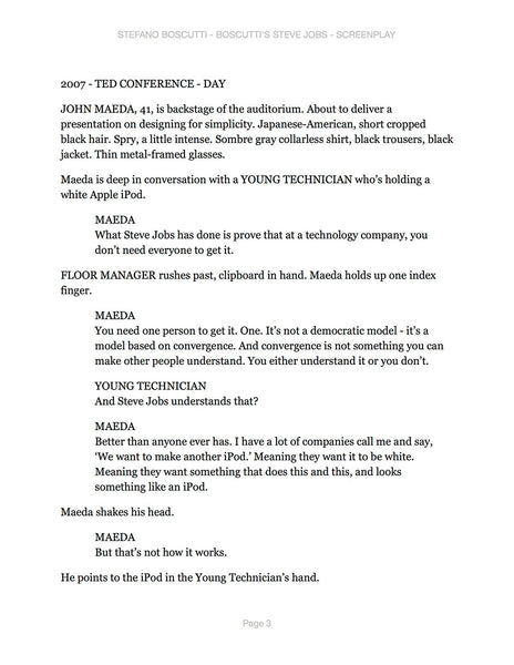 Stefano Boscutti - Boscutti Steve Jobs Screenplay - Sample Page 3