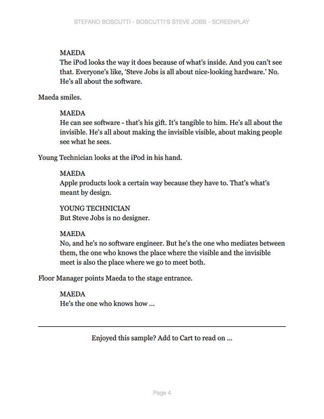 Stefano Boscutti - Boscutti Steve Jobs Screenplay - Sample Page 4