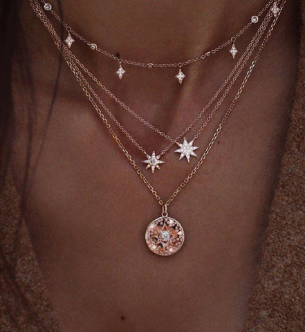 Golden Star Pendant Necklace