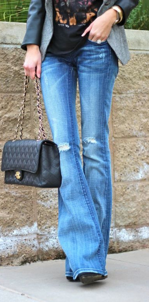 Blue Denim Bootcut Jeans