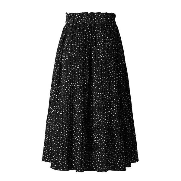 Black Polka Dot Maxi Skirt
