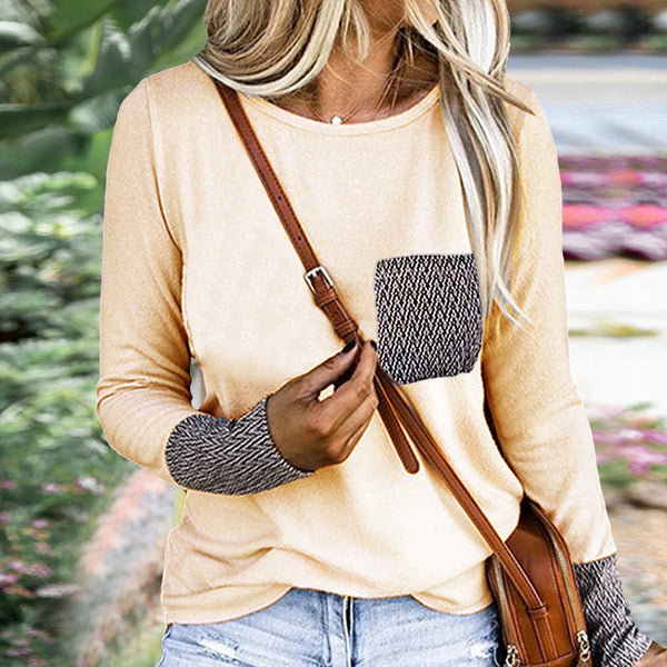 Yellow Patterned Pockets T-Shirt