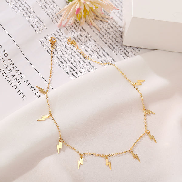 Lightning Choker Golden Necklace