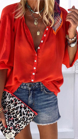 Red Button Down Shirt