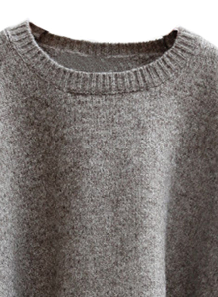 Heather Gray Batwing Knit Sweater