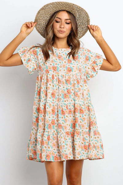 Pink Daizy Floral Babydoll Dress