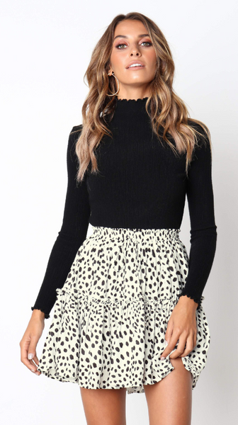 Leopard Print Withdraw Mini Skirt