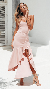 Pink Slip Tail Dress