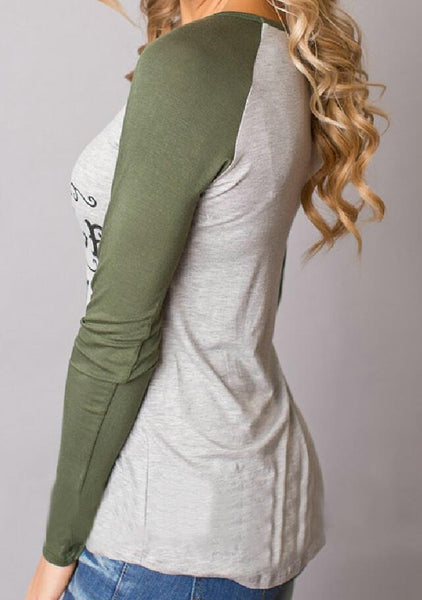 Olive Green Merry Christmas T-Shirt