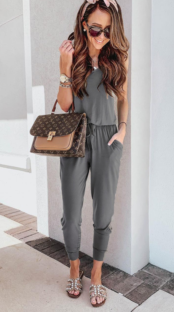 Classic Withdraw Pockets Jumpsuits-4 Colors