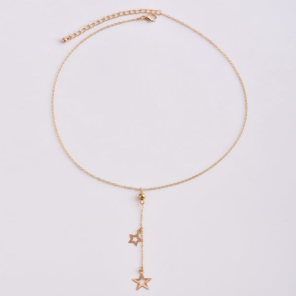 Duet Star Pendant Necklace