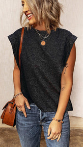 Dark Grey Sleeveless Muscle Tee