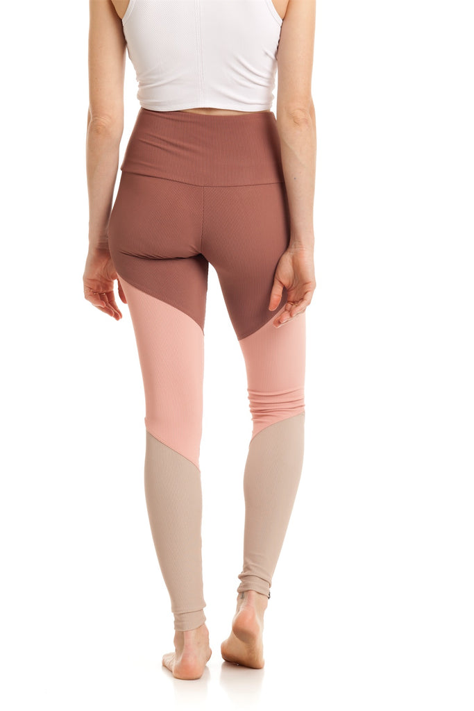 High Track Legging Rib Toast