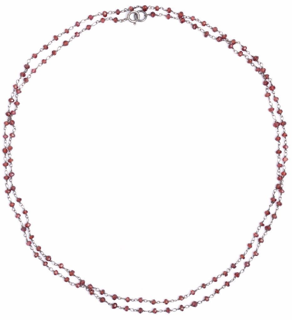 Stone Necklace - Garnet