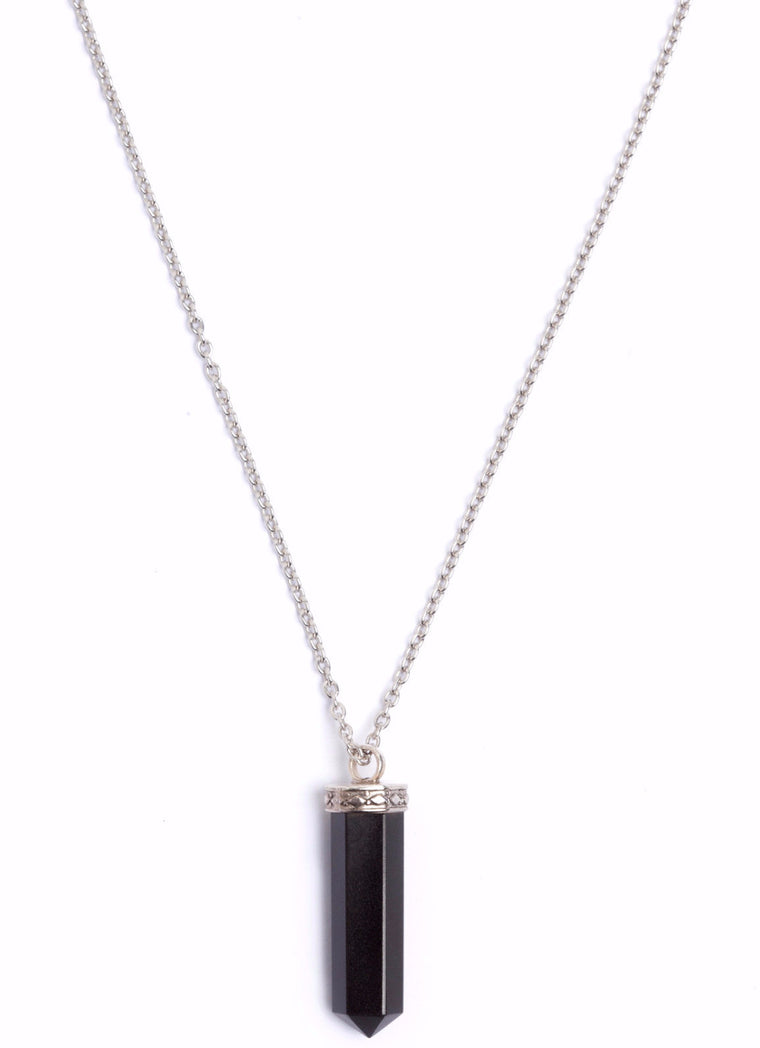Pendant Necklace - Onyx