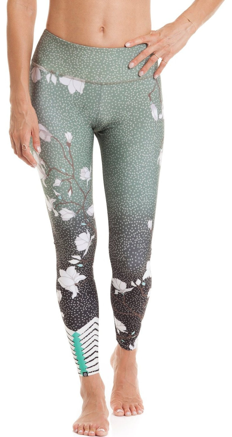 Graphic Midi Blossom Legging