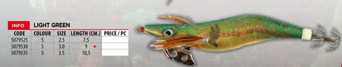 LINEAEFFE Amostras Palhaço Metal Squid Jig