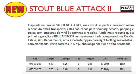 BARROS Cana Stout Blue Attack II