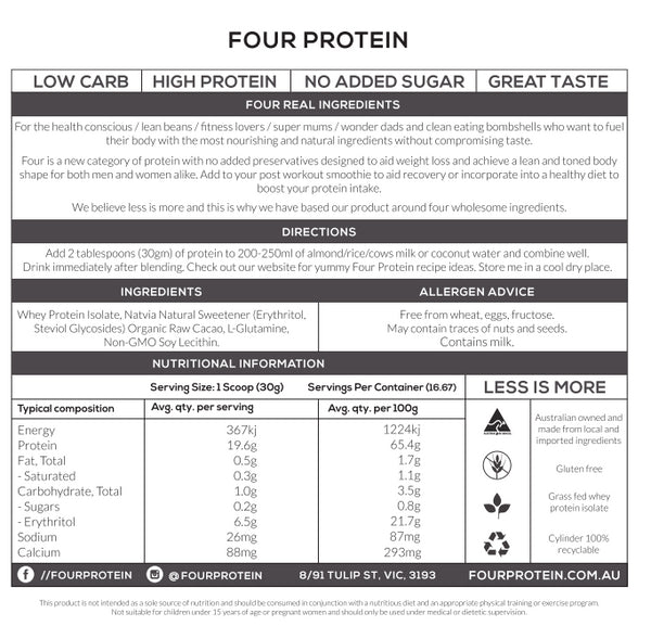FOUR PROTEIN // RAW CACAO