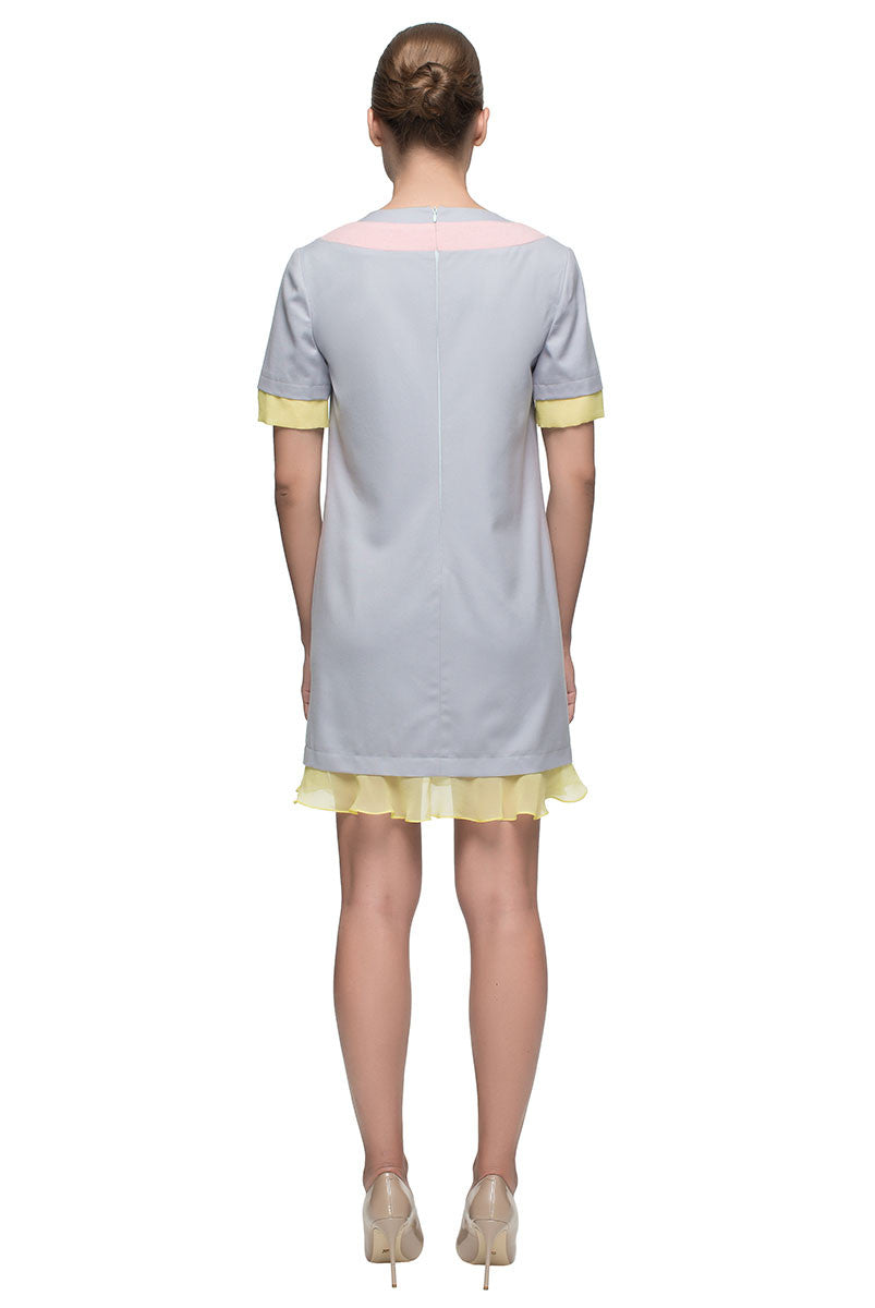 'Tender Touch' Short Sleeve V-neck Shift Dress