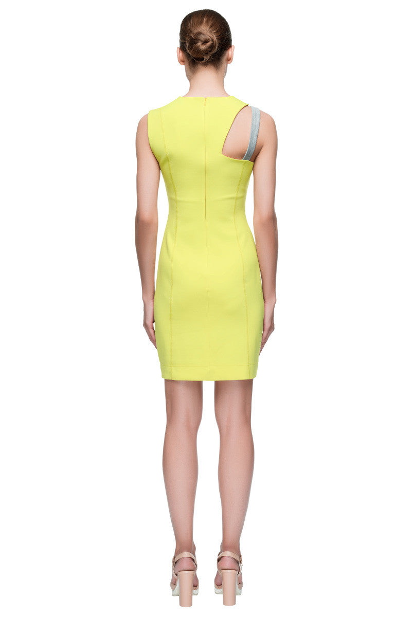 'Sun Kissed Strap' One Strap Asymmetric Sleeveless Fitted Dress