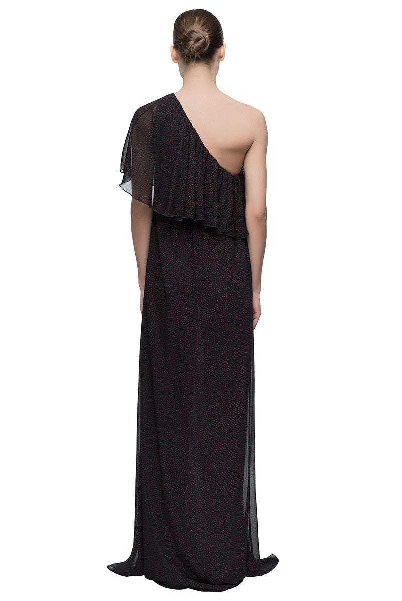 'Chiffon Wink' One Shoulder Maxi Dress