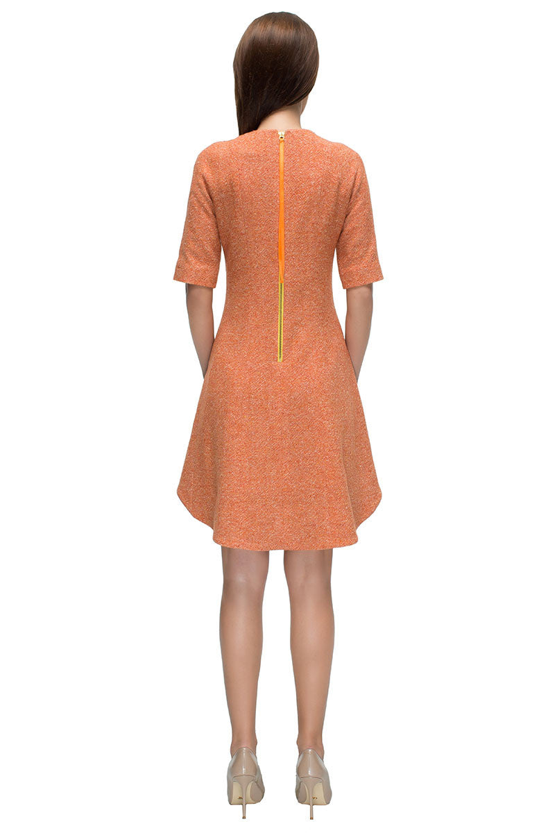 'Autumn Queen' Little Orange Dress