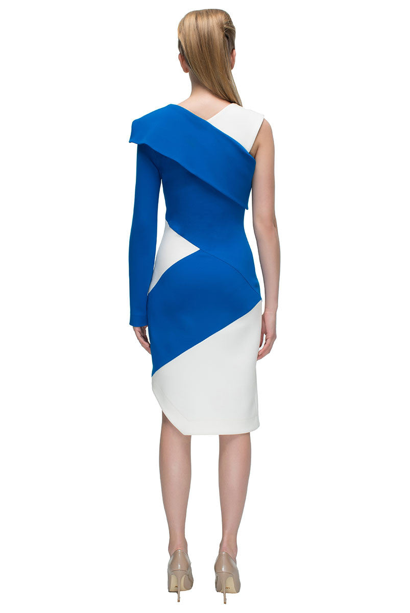 'Asymmetric Single Sleeve Dress'