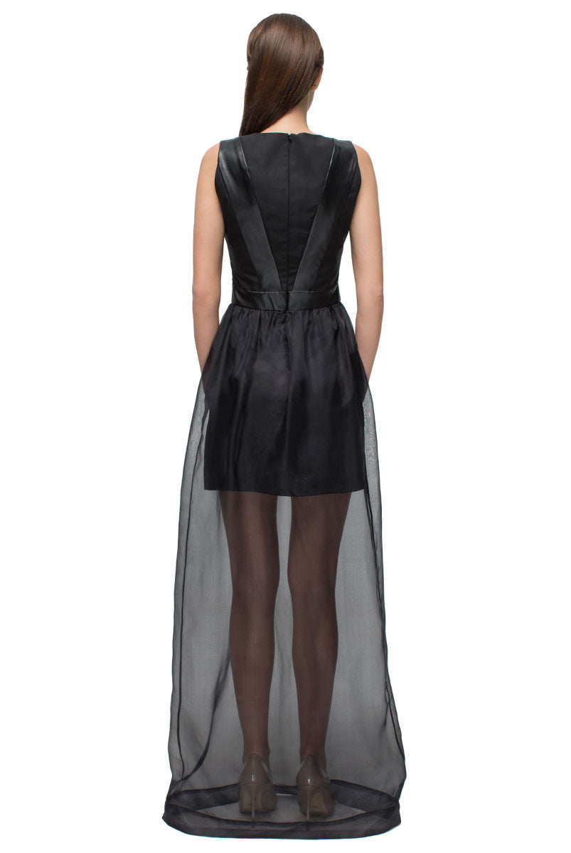 Split Neck Gothic Style Dress