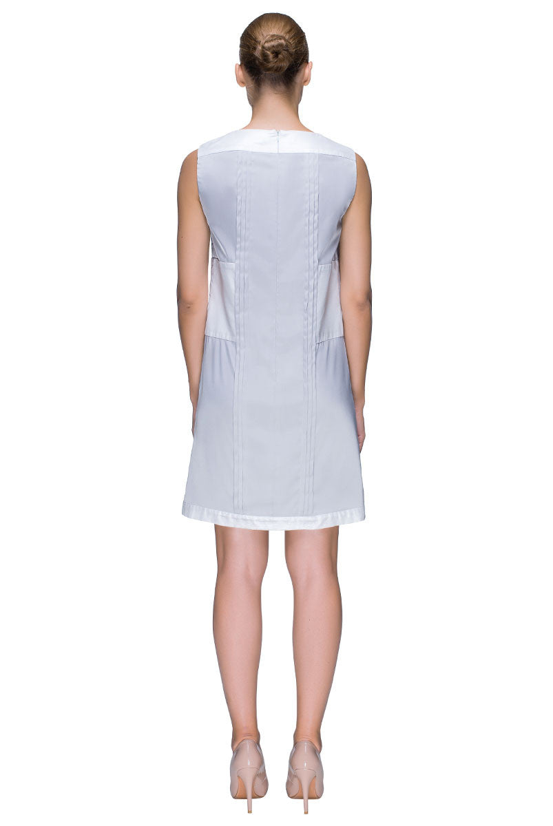 'Silky Snowflake Effect' Sleeveless, Ice Colored Shift Dress