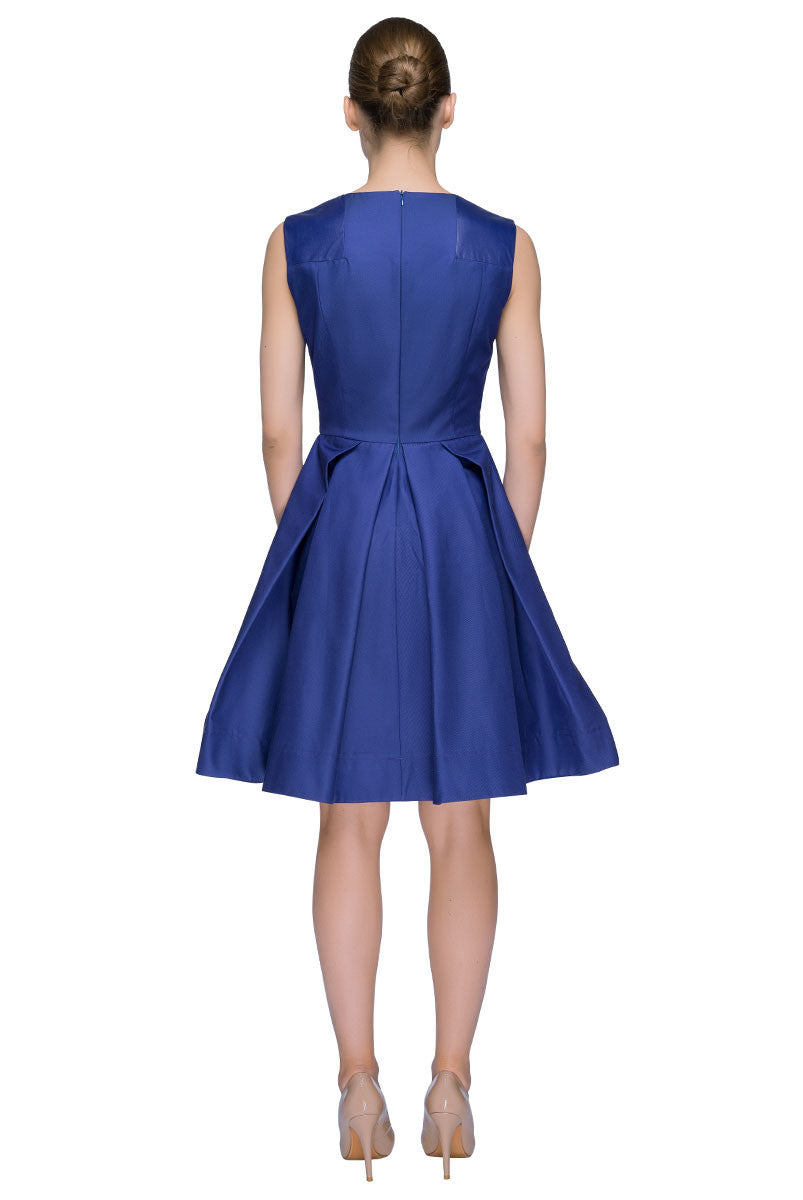 'Violet Blue Star' Sleeveless Fit & Flare Dress