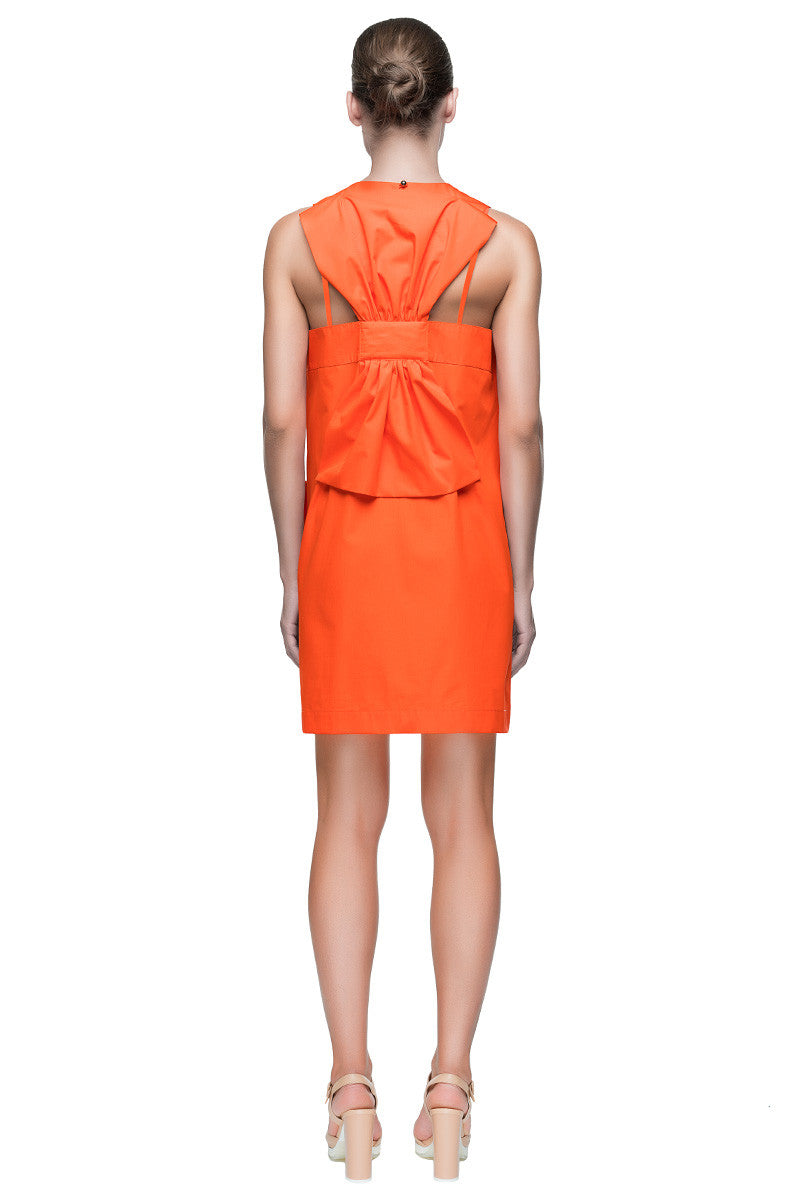 'Orange Bow Dress' Sleeveless Cotton Sundress