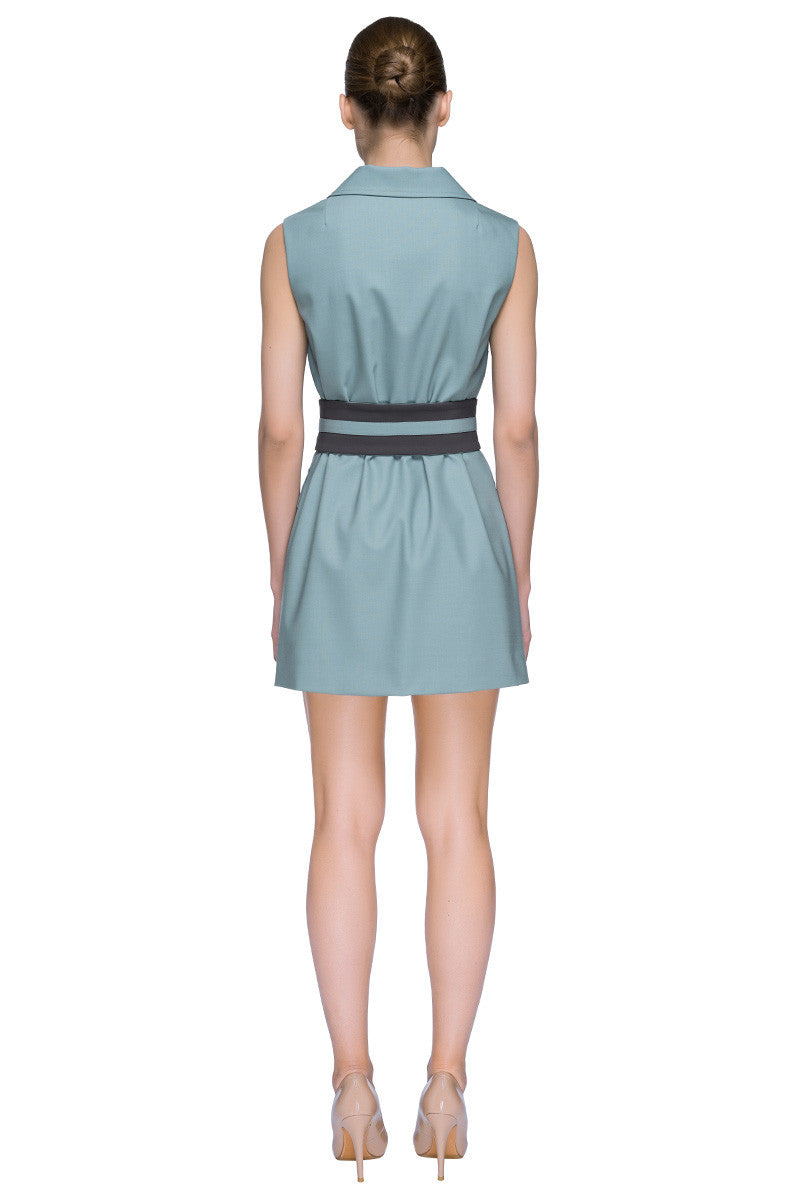 'Chic Shortcut' Sleeveless Belted Mini Dress