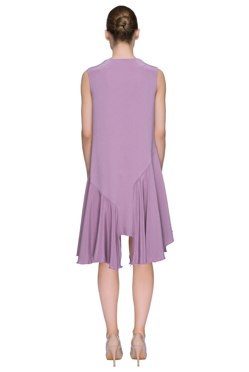 'Pink Sugar Candy' Asymmetric Sleeveless Dress