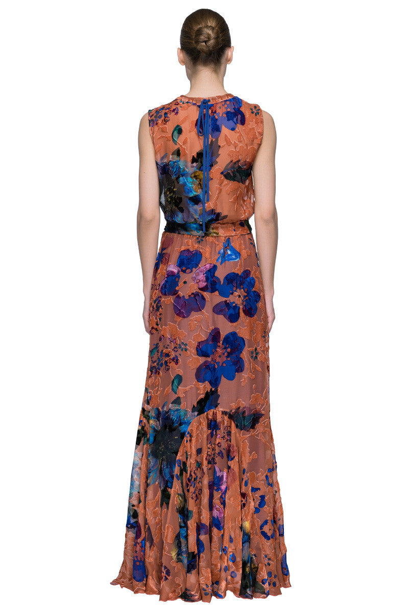 'Autumn Dream' A Fancy Fashion-Forward Velvet Maxi Dress