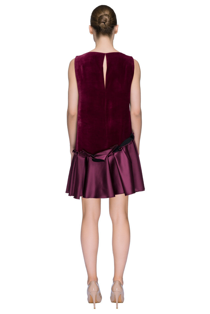 'Little Silk Velvet Dress' Low Waist Sleeveless Mini Dress