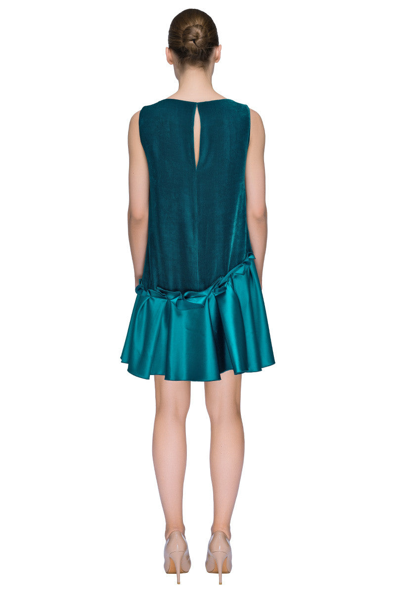 'Little Teal Blue Dress' Low Waist Sleeveless Mini Dress