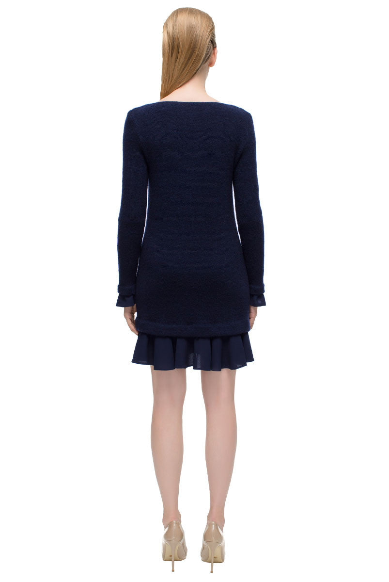 'Beloved Blue Dream' Long Sleeve sweater  Dress
